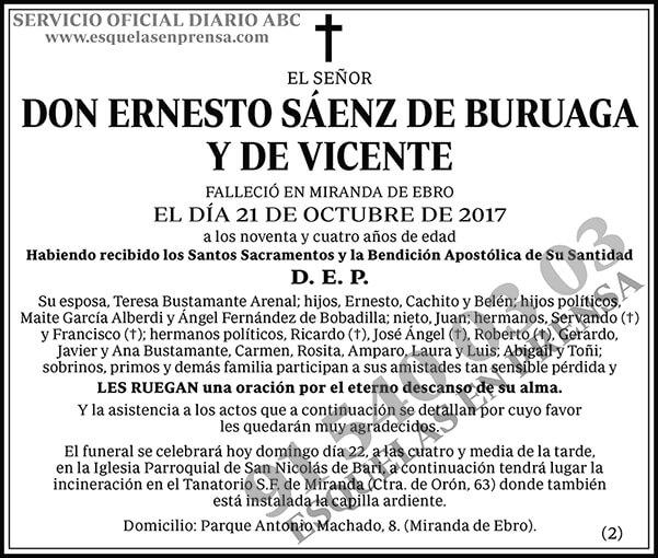 Ernesto Sáenz de Buruaga y de Vicente